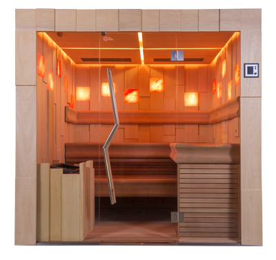 Premium Sauna mit Panorama Glasfront